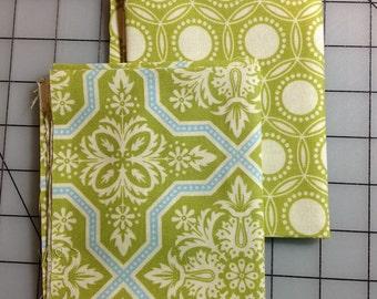 2 Fat Quarter cuts of Joel Dewberry Heirloom - in Green 100% cotton - #46
