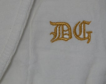 Monogrammed Robes,  Personized Robes,  Personalized Robes,  Luxury Quality Terry Bathrobes -Grooms Gifts - Mens Bathrobe