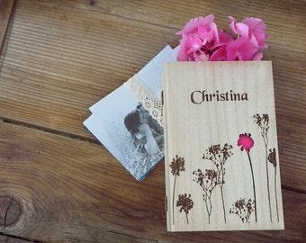 Personalised Bridal Shower Favors Wooden Keepsake Box Rustic Bridesmaids' Gift Box Wedding Present Bridesmaid Keepsake Jewelry Box Set of 7