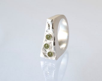Cake Slice Ring in Sterling Silver. Lime Cake Ring.