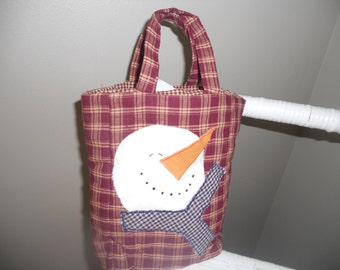SNOWMAN BAG..........Handmade