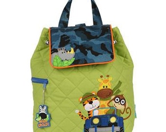 Personalized Stephen Joseph Safari Quilted Backpack