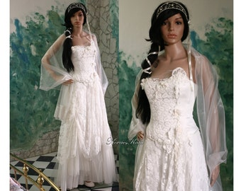 Ethereal Modern Romantic Wedding Gown with French Lace - Aglaia