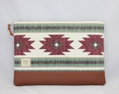 Padded Laptop Sleeve for MacBook, iPad, MS Surface, or Custom Size in Burgundy, Green, Natural Canvas with Faux Leather Bottom