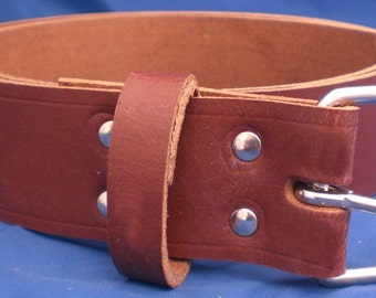 """Light Brown Leather Belt 1 1/2"""" Wide (38mm) with Choice of Buckle and Sizes Handmade Real Leather"""