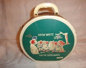 Vintage~SNOW WHITE and the Seven Dwarfs~Walt Disney Productions~Childs Toy Storage Travel Suitcase by NEEVEL