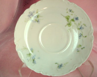 Vintage Haviland Limoges France Violets Saucer The Tarascon China Cottage Chic Replacement China Vintage Wedding