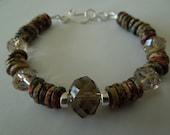 Shades of Nature sterling silver bracelet