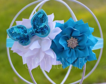 Cinderella Flower Headband. Princess headband. Cinderella headband, Girls headband,Birthday gifts. Newborn Headband.