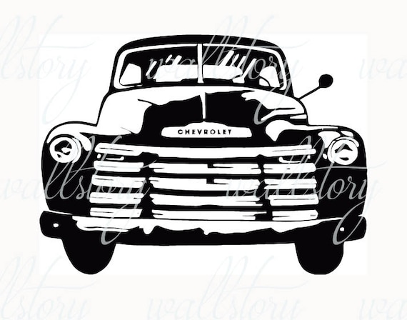 old 1940s chevy truck car vinyl wall graphics by infinitydecals