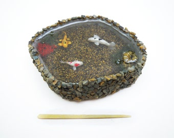 Miniature Rock Koi Pond - Large Size