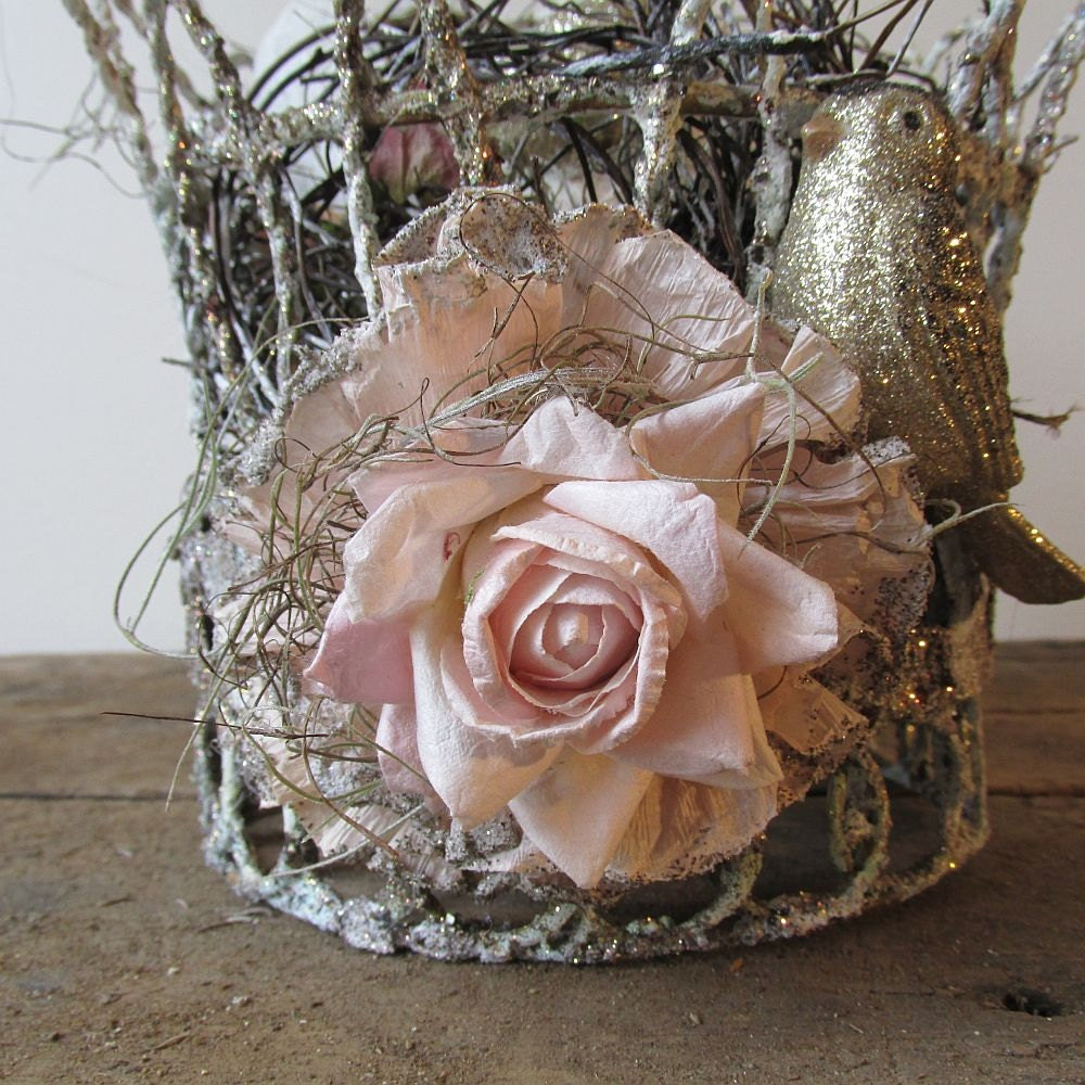 Wire Crown And Nest Decorative Home Decor Shabby French Fancy