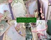 The Secret Garden - Wedding Guest book -