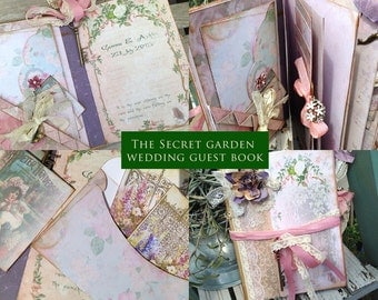 The Secret Garden - Wedding Guest book -