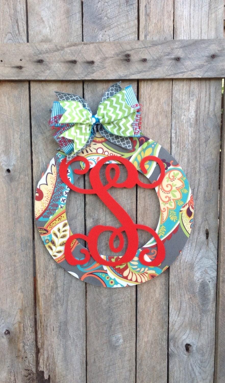 front door decor personalized door wreath wood wreath