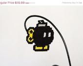 SALE: Pixel Bomb Barrette. Video game accessory. BOOM. POP Art. Comic Book. Geek