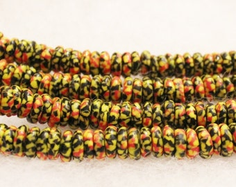 African Glass Disc Beads(28), African Recycled Glass Beads (C69)