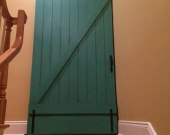 Custom Sliding Barn Door, Vintage Inspired Barn Door, Painted Barn Door, Teal Barn Door