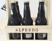Personalized Beer Caddy Carrier With Bottle Opener Groomsmen Gift Beer Crate Tailgating Beer Holder 6 Pack Beer Carrier Bottle Opener