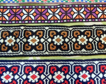 Vintage trims - cotton woven - European/German made