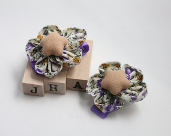 Baby girls/children/girls hair clip - fabric flower clips