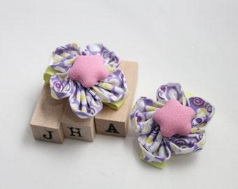 Baby girls/children/girls hair clip - fabric flower clips