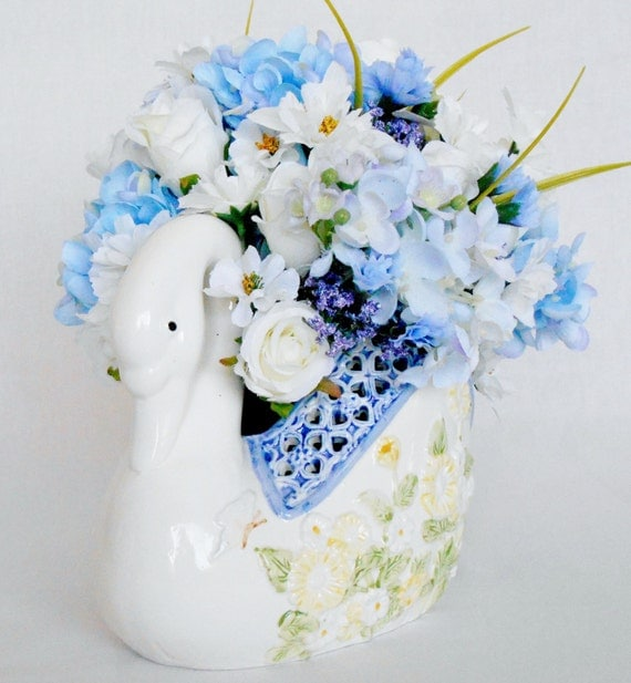 Reserved for joshua white roses blue with lavender hydrangea floral