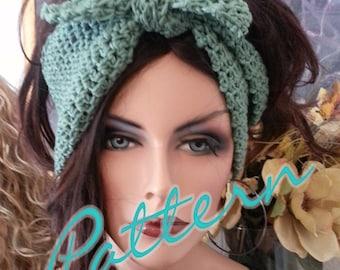 I Love Lucy Headband Tie Headwrap Earwarmer PDF Pattern Crochet