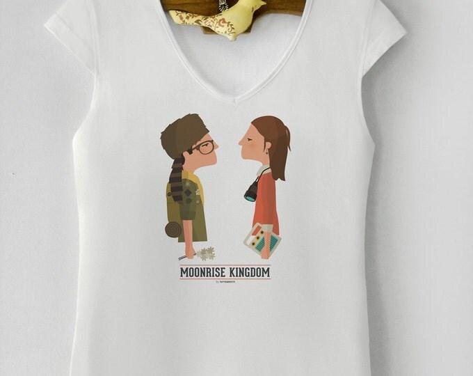 """Camiseta de mujer """" Moonrise Kingdom """". Basada en la película de Wes Anderson."""
