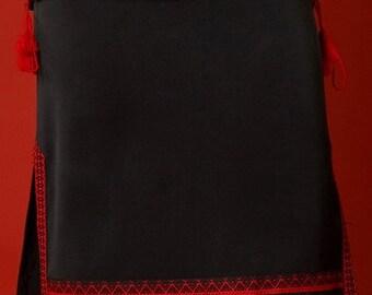 Ukrainian embroidered women's skirt. Black. Skirt is embroidered Ukrainian style. Vyshyvanka Ukrainian Girls' Clothing Ethnic national suits