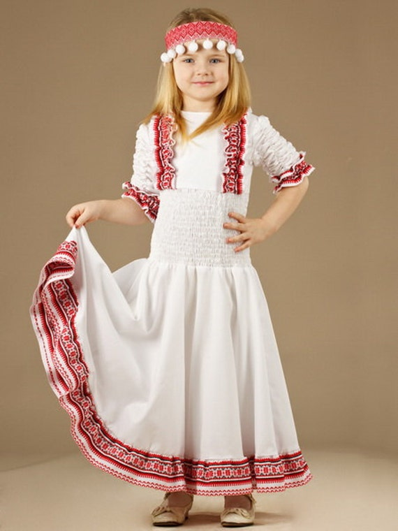Ukrainian Embroidery Dress Girls Vyshyvanka DressModern