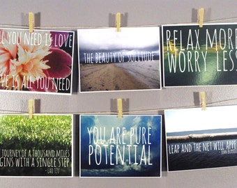 6 Inspirational Postcard Set
