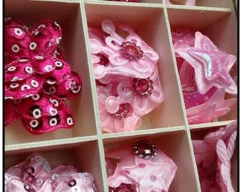 Pretty Pink lightly padded embellishments