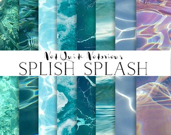 Digital Paper Pool and Ocean Textures - Instant Download