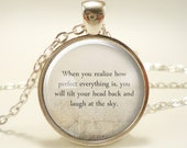 Custom Quote Necklace, Personalized Jewelry For Poem, Song Lyrics, Or Text (1727S1IN)