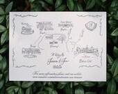 Custom Wedding Map Digital File