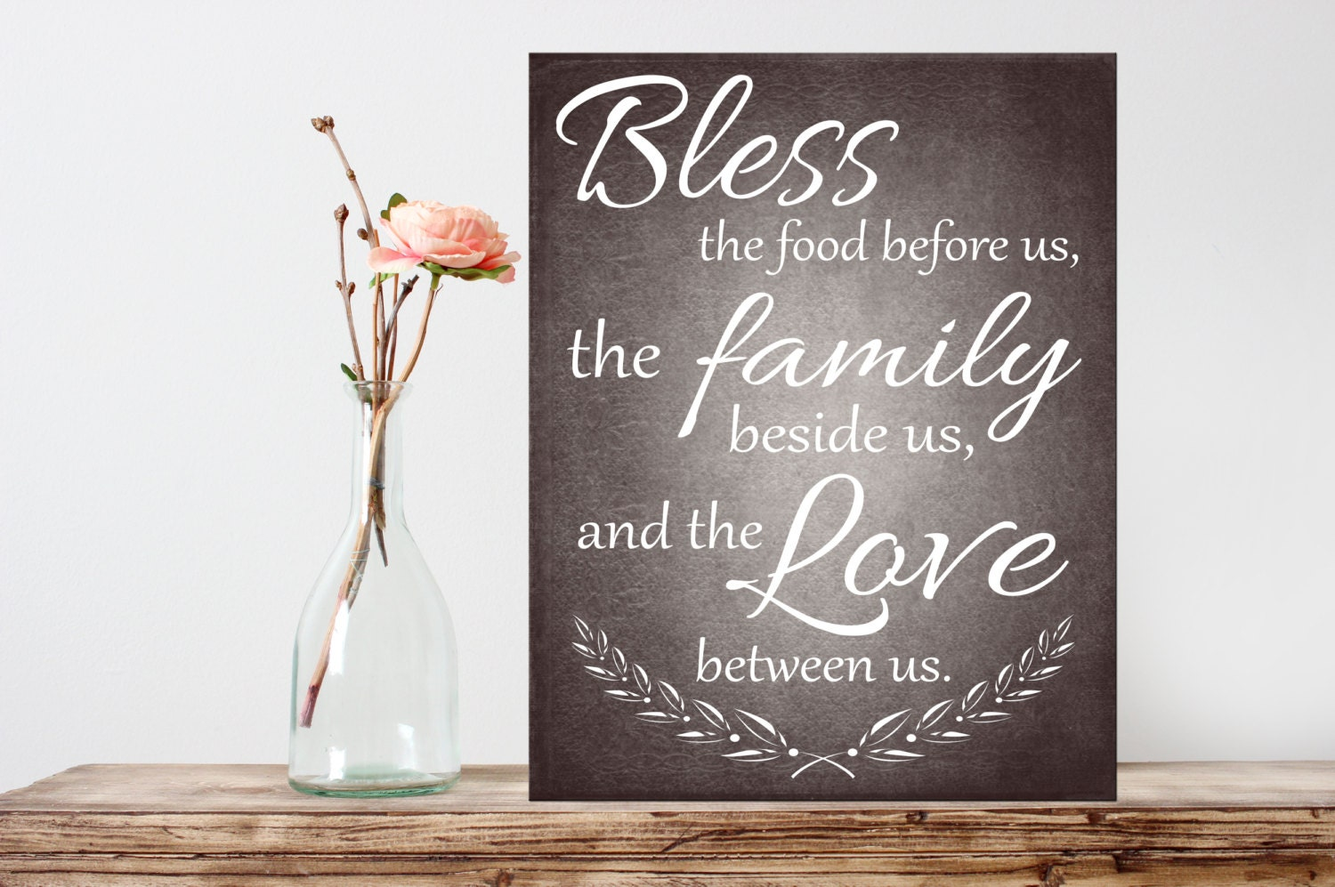 Kitchen Printable Bless The Food Before Us Quote INSTANT