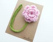 Ballet Pink Pacifier Clip--Crochet Flower pacifier clip--Baby Girl accessories--MAM adapter--Sweetlace Shop