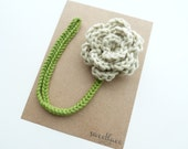Oatmeal Pacifier Clip--Crochet Flower pacifier clip--Baby Girl accessories--MAM adapter--Sweetlace Shop