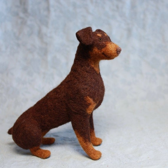 CUSTOM Short-Coated Pet Portrait: Tiny Felt Dogs, Cats and Critters to Match Your Pet (Short-Coated/Tightly Felted Only)