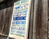 lake rules wall art