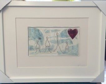 Recycled Fused Glass Framed Artwork - Custom Order so please contact me to discuss exactly what you would like...