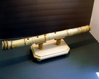 Flute Shakuhachi.Root end.A3, Extra bass.Jinashi.Base included.