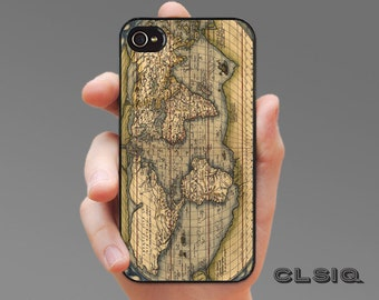 Vintage World Atlas Map iPhone Case for iPhone 6, iPhone 5/5s, or iPhone 4/4s, Samsung Galaxy S6, Galaxy S5, Galaxy S4, Galaxy S3