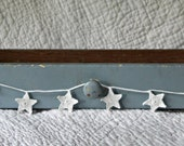 White Hand Crocheted Star Garland--Wedding, Christmas, Holiday or Anytime Home Decor
