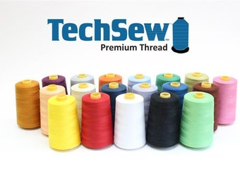 Techsew Spun Polyester General Sewing Thread Serger Thread #27 6000 Yds. Spool