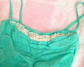 Vintage 1950s Style Teal Ruffle Swimsuit