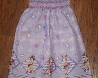 Purple Shirred Elastic Fancy Nancy Dress/Top