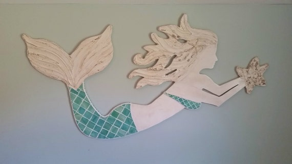 Mermaid Wall Art Medium Size Stained Glass On By