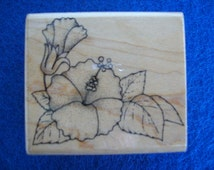 Rubber Stamps, Wood Mounted Stamp, Scrapbooking, Hero Arts Rubber Stamp, Flower Stamp, Hibiscus Stamp